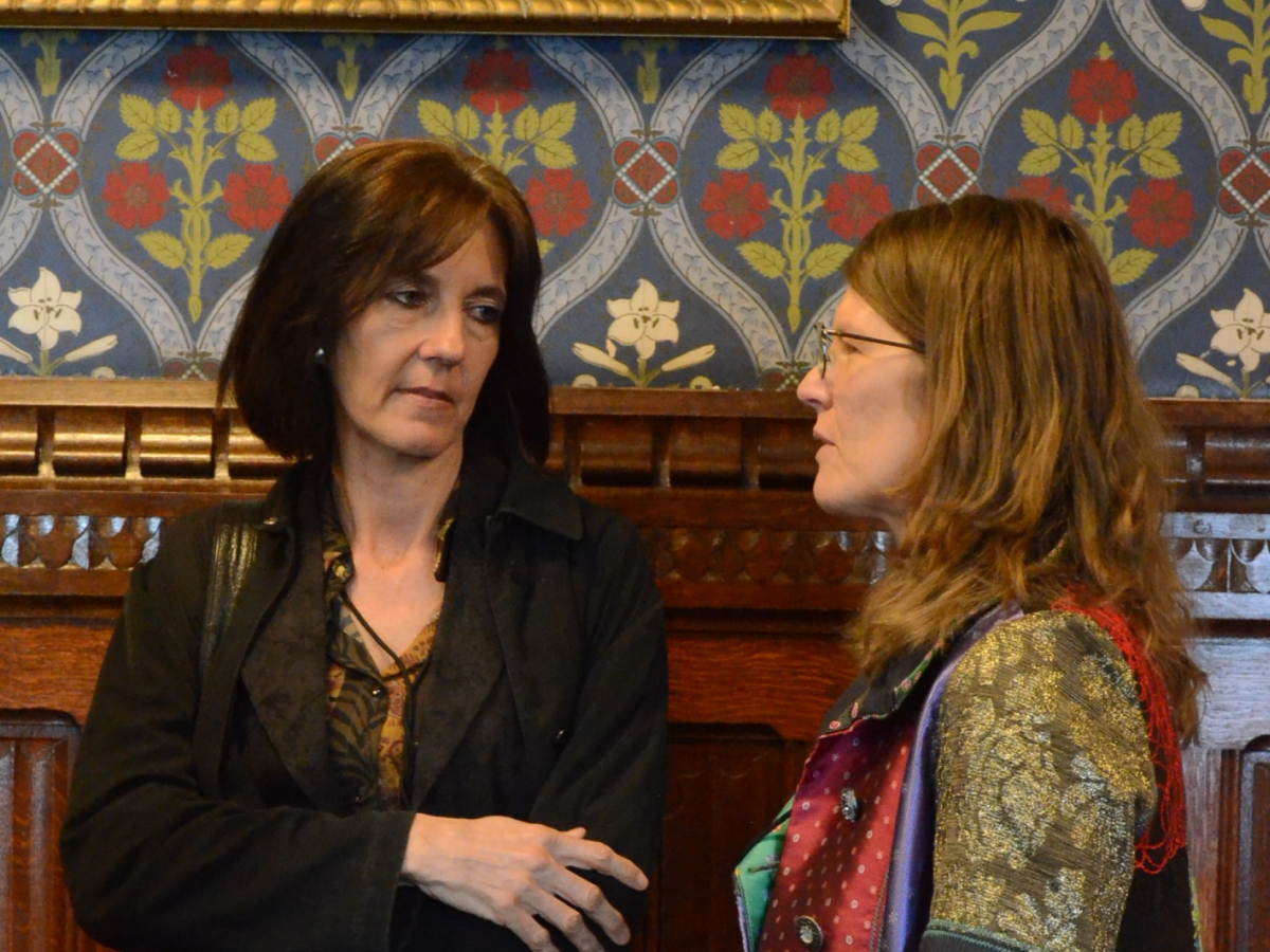 Professor Melissa Leach, IDS, and Diane Kingston OBE of Frontline AIDS