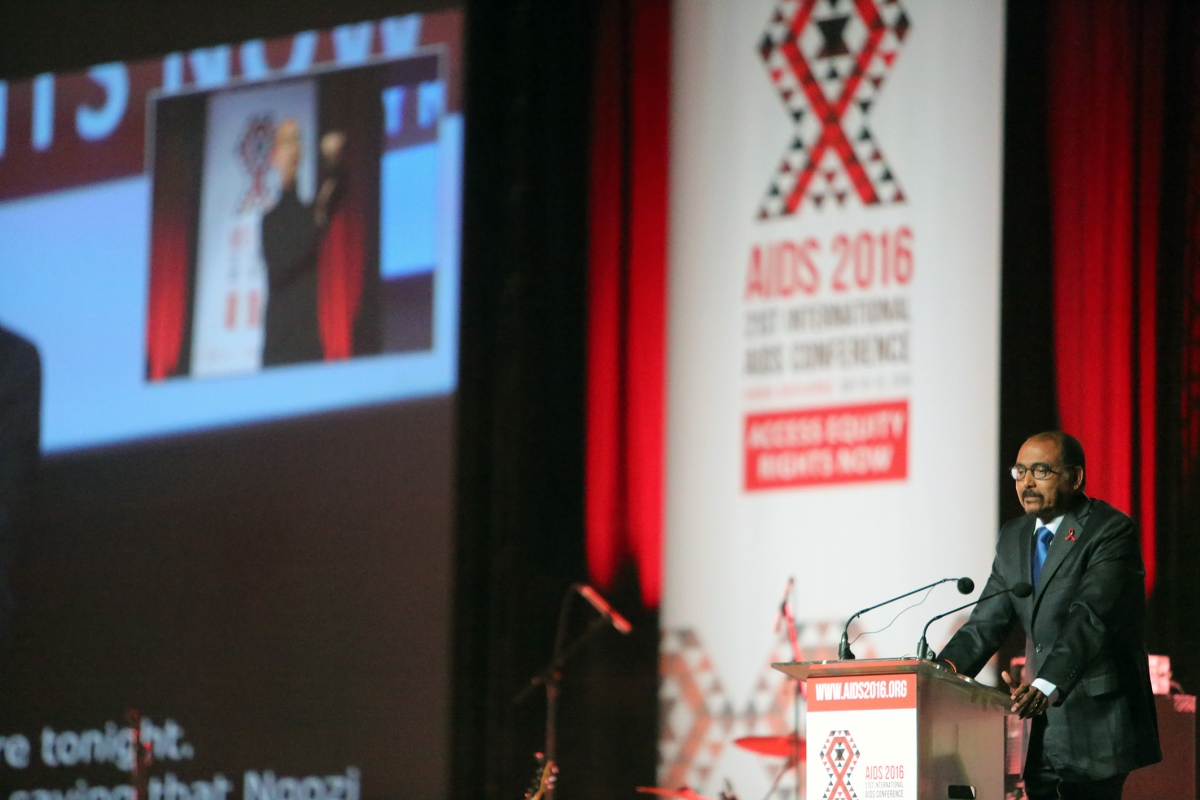 Michele Sidibé opening speech. Credit AIDS2016
