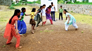 Girls play Kabbadi, usually a sport for boys in Bijapur
