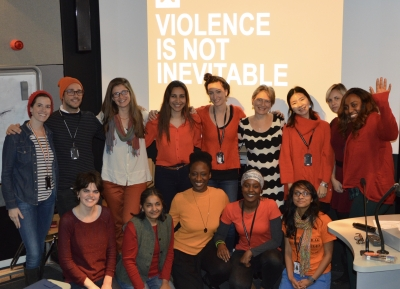 LSHTM students Orange the World