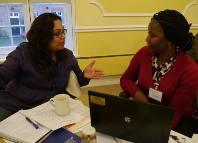 Parinita Bhattacharjee and Dr Joyce Wamoyi at the STRIVE meeting on social norms