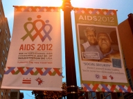 Washington, DC AIDS 2012 banners