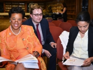 The Rt Hon Baroness Scotland and her team: long-time support for VAW action