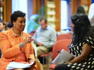 Baroness Scotland in discussion with panelist Camille Kumar from Imkaan