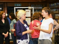 Ann Fazakerley (LSHTM External Relations) and Alex Hyde (STRIVE)