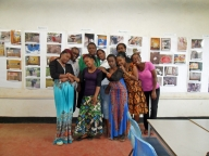 Female facilitators and participants from Moshi. The participants all work in food vending places in the area.