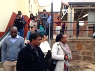 Touring the former apartheid prison, Constitution Hill