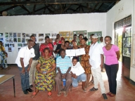 Group photo of the study team, participants and local leaders who attended the exhibition in Moshi.