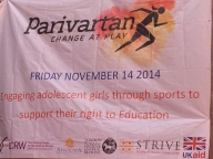 Banner for the Parivartan for Girls event