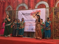 Participants speaking publically for the first time at Parivartan for Girls launch