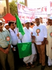 Minister for Health & Family Welfare, U.T. Khader, at rally in Bagalkot