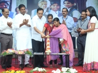 Kimmanne Ratnakar along with adolescent girl leaders from Samata's intervention village light the lamp and inaugurate the event