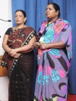 Leaders from KHPT's partner community based organisation Chaitanya Mahila Sangha sing rural Karnataka songs