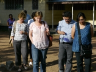 The STRIVE group visits research project sites in Kisesa