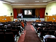 Participants watch the Samata film 'On Our Own Two Feet' at Sahamanthana conference in Karnataka in July 2014
