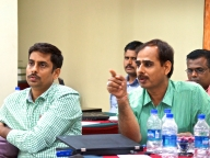 Prakash Javalkar (left) - Senior Manager, Quantitative Research and H.S.Srikantamurthy (right) - Deputy Director, North Karnataka