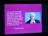 President Carter wrote a comment for the series