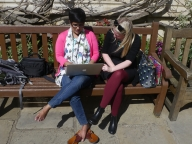 Priya Pillai, KHPT, and Michelle Moore, LSHTM, working on KiA strategies in Oxford gardens