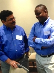 Ravi Verma of ICRW in Delhi, Gerry Mshana of NIMR in Mwanza