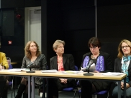 The panelists at The Lancet launch of VAWG