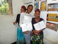 We gave out certificates to all of our participants and they were excited to show them to their families!