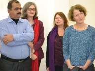 Touring Hillbrow adolescent-friendly clinic: Raghavendra, Annie Holmes, Chris McLanachan, Charlotte Watts