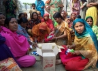 Distribution of sanitary cloths and soap in Bangladesh